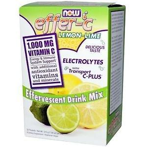 Effer-C(Tm) Lemon Lime 30/Box NOW Foods