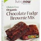CHOC FUDGE BROWNIE MIX ORG, GF 16 OZ By Now Foods