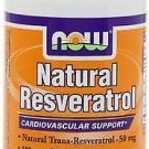 Natural Resveratrol 50 Mg  60 Vcaps NOW Foods