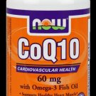 Coq10 60Mg  With Omega-3 60 Sgels NOW Foods