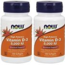 Now Foods, Vitamin D-3, 5,000 IU, 120 Softgels