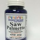 Saw Palmetto 450 mg Supports Prostate/Urinary Health 200 Capsules Expires 2019