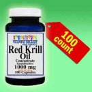 RED Krill Oil -100 Count HIGH-1000 MG Omega-3 Fatty Acids -EPA -DHA -Astaxanthin