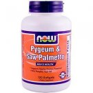 Pygeum & Saw Palm Ext 25/80Mg 120 Sgels NOW Foods
