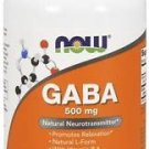 Now Foods, GABA, Natural Calming Effect, 200 Capsules Promotes Relaxation