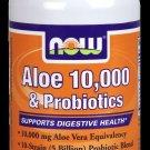 Aloe Vera 10,000 & Probiotics  60 Vcaps NOW Foods