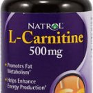 Natrol L-CARNITINE 500mg Fat Burner & Energy 30 Capsules