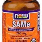 Now Foods Sam-E 200Mg 60 Tabs