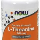 Now Foods, L-Theanine, Double Strength, 200 mg, 120 Veggie Caps