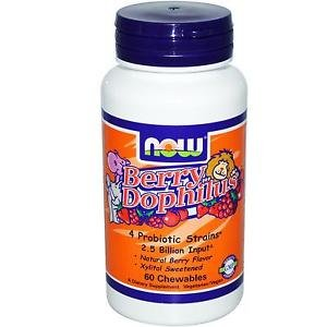 NOW Foods Berry Dophilus Natural Berry Flavor - 60 Chewables