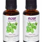2 Bottles Now Essential Oils 100% Pure Peppermint Oil - 1 fl oz (30 ml)