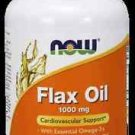 Flax Oil Organic 1000Mg  100 Sgels NOW Foods