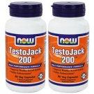 2 Pack Now Foods TestoJack 200, 60 Veggie Caps