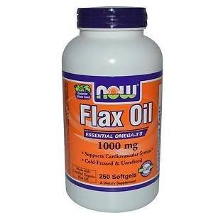 Flax Oil Organic 1000Mg  250 Sgels NOW Foods
