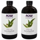 2 Pack Eucalyptus Essential 100% Pure Oil 16 oz By Now Foods