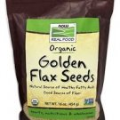 NOW Foods Organic Golden Flax Seeds - 16 oz.