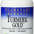 Turmeric Gold 500 mg - 120 Tablets by Planetary Herbals