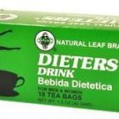 Natural Leaf Brand Dieters Tea Drink 18 Count (1.5 oz) For Men & Women