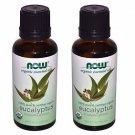 2 Pack Now Foods 100% Pure Eucalyptus Oil - 1 oz