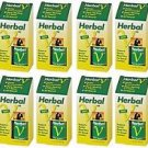 12 Pack Lane Labs Herbal V 500mg Supports Genital Blood Flow - 10 Capsules