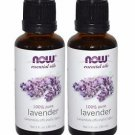 2 Bottles Now Foods Lavender Oil - 1 fl oz (30mL)