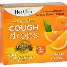 Herbion Naturals Cough Drops All Natural - Orange Flavor - 18 Drops