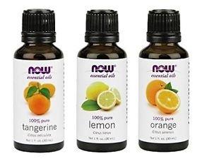 NEW 3 Pack Variety of NOW Essential Oils: Citrus Blend  Orange Tangerine Lemon
