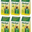 6 Pack Lane Labs Herbal V 500mg Supports Genital Blood Flow - 10 Capsules