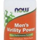 NOW Men's Virility Power Male Performance Formula 60 Caps FRESH, Made In USA