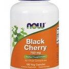 Now Foods Black Cherry Fruit 750 mg - 180 Veggie Caps
