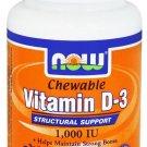 Vitamin D-3 1000 iu Fruity Chewable 180 Loz NOW Foods