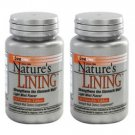 2 Pack Lane Labs Nature's Lining Strengthens the Stomach Wall 60 ChewableTablets