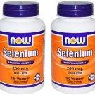 2 Pack Now Foods Selenium 200mcg Essential Mineral - 180 Vcaps