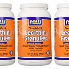 3 Pack Now Foods Non-Gmo Lecithin Granules 2 Lb (907g)