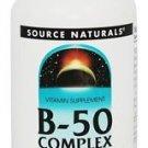 Source Naturals, Vitamin B-50 Complex Yeast Free, 50mg, 250 ct
