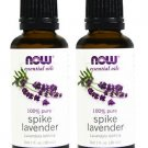2 Bottles Now Essential Oils - 100% Pure Spike Lavender Oil - 1 fl oz (30 ml)