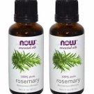 2 Bottles Now Foods Rosemary 100% Pure Oil 1 fl oz