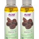 2 Pack Now Foods 100% Pure Organic Jojoba Oil - 4 fl oz (118 ml)
