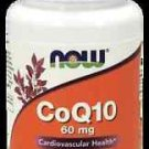 NOW Foods CoQ10 Cardiovascular Health 60mg - 60 Vegetarian Capsules