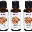3 Pack Now Foods 100% Pure Cinnamon Cassia Oil 1 fl. oz