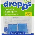 3 Pack Dropps Laundry Detergent Pacs Fresh Scent -  2 loads