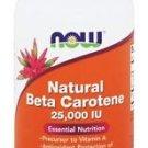 NOW Foods Natural Beta Carotene with Mixed Carotenoids 25000 IU - 90 Softgels