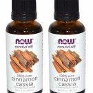 2 Pack Now Foods 100% Pure Cinnamon Cassia Oil 1 fl. oz