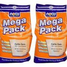 2 Pack Now Foods Mega Pack Carbo Gain, 12 lbs (5.45 kg)