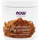 Now Foods Solutions Moroccan Red Clay Facial Detox Powder - 6 oz (170 g)