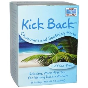 Now Foods, Real Tea, Kick Back, Chamomile and Soothing Herbs, Caffeine-Free, 24