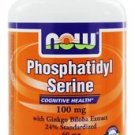 Now Foods Phosphatidyl Serine with Ginkgo Biloba Extract 100 mg - 100 Softgels