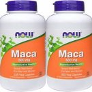 2 Packs - Now Foods, Maca 500 mg, 250 Veggie Capsules