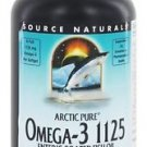 Arctic pure Omega-3 1125  Enteric Coated Source Naturals Fish Oil. 120 Softgel