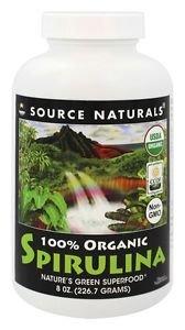 Organic Spirulina 500mg Powder Source Naturals, Inc. 8 oz Powder
